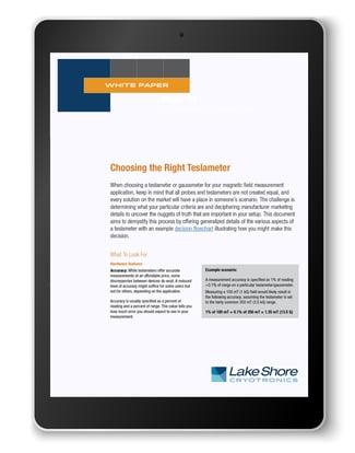 Choosing the right teslameter tablet
